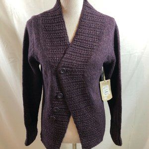 Royal Robbins plum cardigan - womens large - NWT